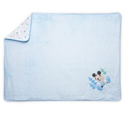 Blåt Mickey Mouse Layette babytæppe
