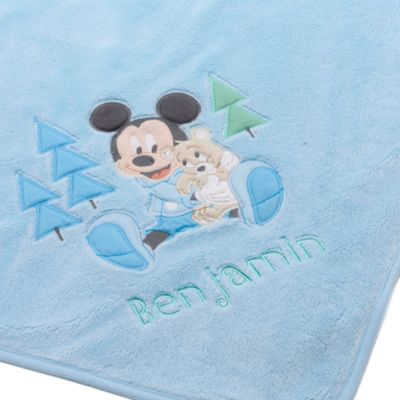 Mickey Mouse Layette Blue Baby Blanket