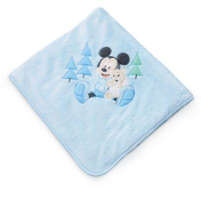 Micky Maus Babyausstattung - Babydecke blau