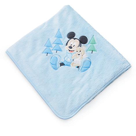 Copertina neonato blu corredino Topolino