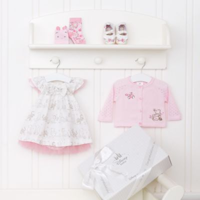Winnie the Pooh Layette Pink Personalised Baby Gift Set