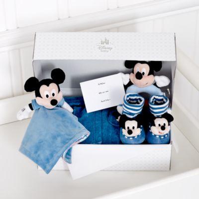 Ensemble cadeau Mickey Mouse personnalisable mignon et douillet pour bébé