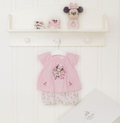 Minnie Mouse babygavesæt med personlig tekst