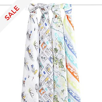 Aden and Anais Winnie The Pooh Baby Swaddles, Set of 4