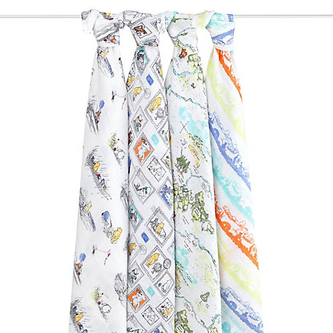 Winnie The Pooh Aden and Anais Baby Swaddles, Set of 4
