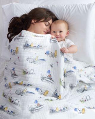 Couverture aden+anais Winnie l'Ourson pour bébés