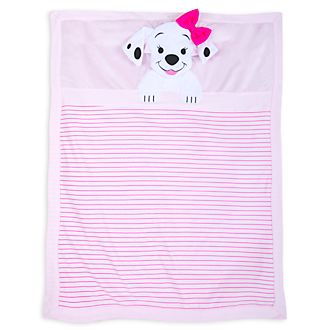 Disney Store 101 Dalmatians Pink Baby Blanket