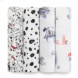 Aden and Anais 101 Dalmatians Baby Swaddles, Set of 4