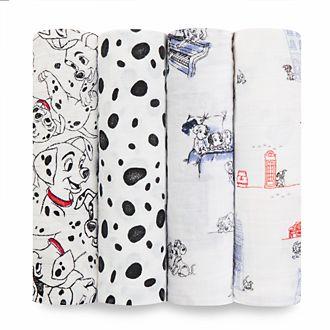 aden+anais - 101 Dalmatiner - Pucktücher für Babys, 4-teiliges Set