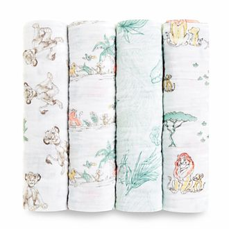Aden and Anais The Lion King Baby Swaddles, Set of 4