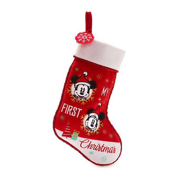 Calcetín para bebé Mickey y Minnie, Holiday Cheer, Disney Store