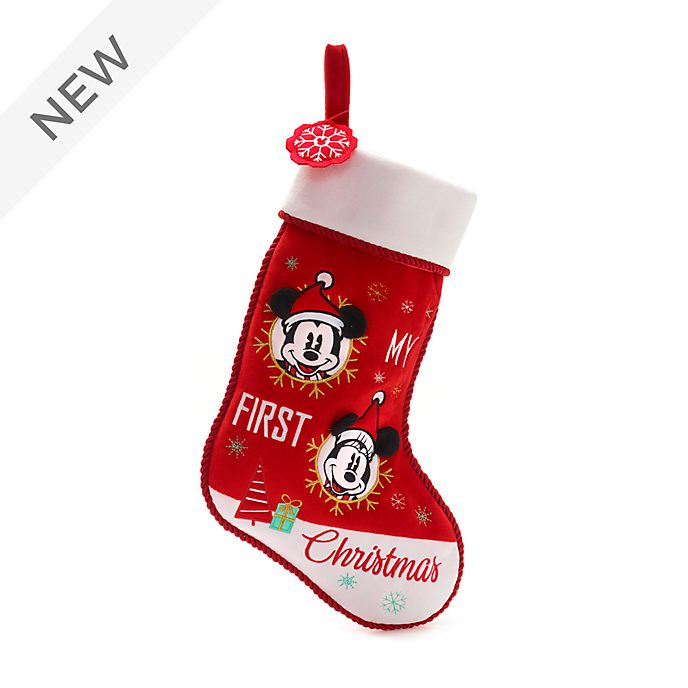 Disney Store Mickey and Minnie Holiday Cheer Baby Stocking