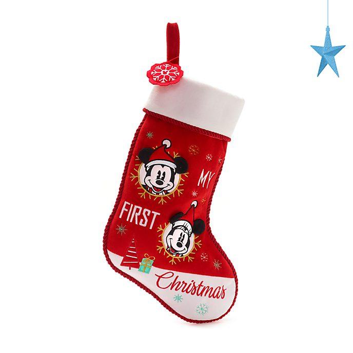 Disney Store Mickey and Minnie Holiday Cheer Baby Stocking