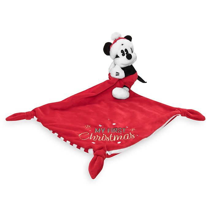 Disney Store Mickey Mouse Holiday Cheer Baby Comforter Toy