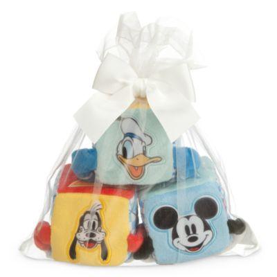 Mickey Mouse bløde klodser til baby, 3-pak