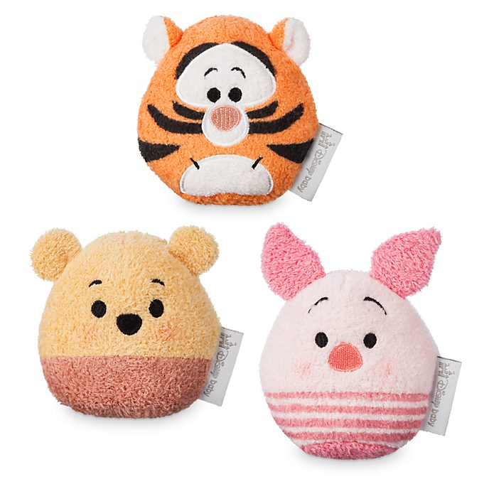 Disney Store Winnie The Pooh Baby Rattle Set
