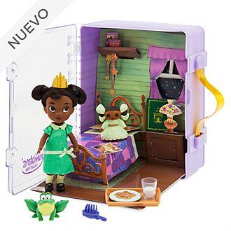 Set juego minimuñeca Tiana, colección Disney Animators, Disney Store