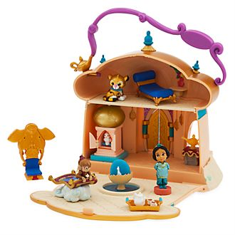 Disney Store Princess Jasmine Micro Playset, Disney Animators' Collection Littles