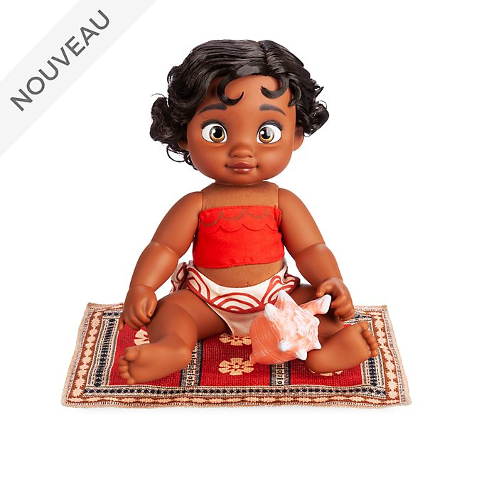 Disney Store Poupée Vaiana bébé, collection Disney Animators