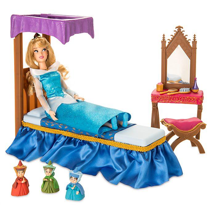 Set de juego dormitorio princesa Aurora, La Bella Durmiente, Disney Store