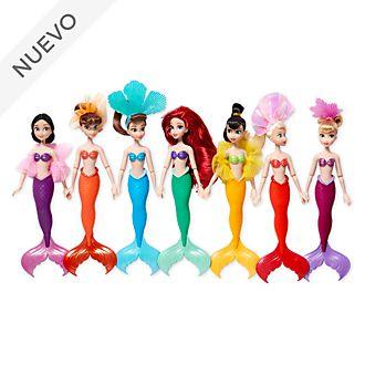 Muñecas Ariel y hermanas, Disney Store, set de 7