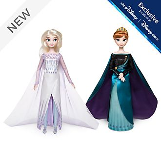 Disney Store Queen Anna and Elsa the Snow Queen Dolls, Frozen 2