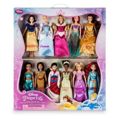 Set de regalo de muñecas princesas Disney, edición de lujo