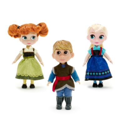 Cofanetto regalo mini bambole 12 cm collezione Disney Animators