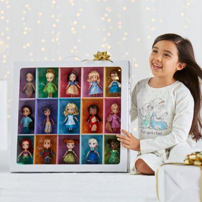 Coffret 15 poupées miniatures, collection Disney Animators