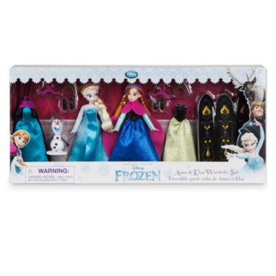 Die Eiskönigin – Völlig unverfroren – Elsa und Anna Puppen-Kleiderschrankset