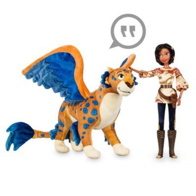 Elena fra Avalor-dukke med talende Skylar-plysdyr