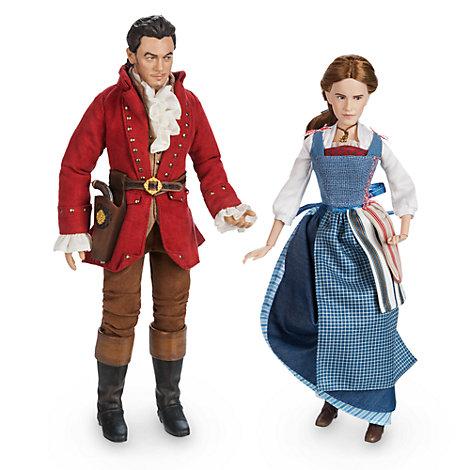 Set de muñecos de Bella y Gastón, colección de la película La Bella y la Bestia