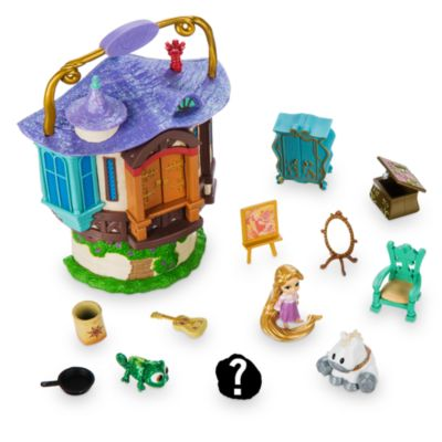 Ensemble de jeu miniature raiponce de la collection disney for Micro costruttori di cottage