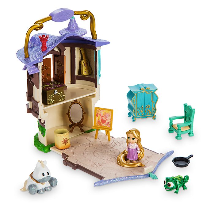 Disney Store Rapunzel Micro Playset, Disney Animators' Collection Littles