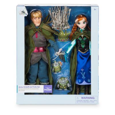 Set bambole nozze Anna e Kristoff con troll, Frozen – Il Regno di Ghiaccio