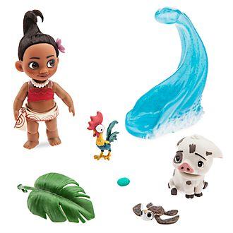 Set de juego con la minimuñeca de Vaiana de la colección Disney Animators