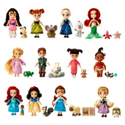 Disney Animators Collection - Prinzessinnen-Puppen, 12er-Set