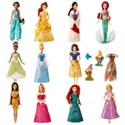 Disney klassiske luksus-prinsessedukker, sæt med 11 stk.