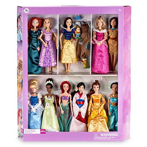 Deluxe Disney Princess Classic Dolls, Set of 11