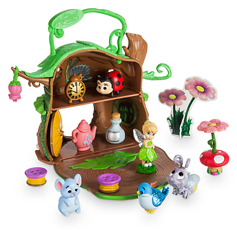 ensemble de jeu miniature f e clochette collection disney animators. Black Bedroom Furniture Sets. Home Design Ideas