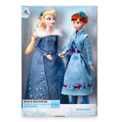 Ensemble de poupées Anna et Elsa, Joyeuses Fêtes avec Olaf