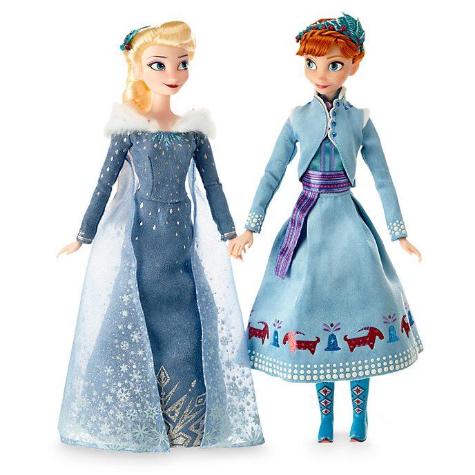 Olaf taut auf - Anna und Elsa Puppenset