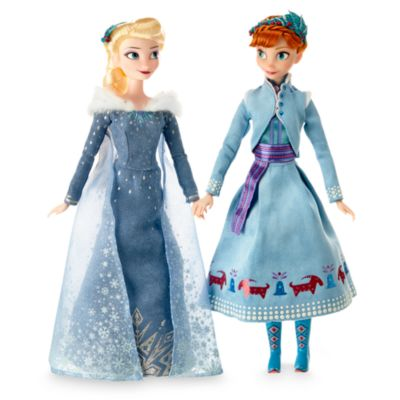 Set muñecas Anna y Elsa. Frozen. Una aventura de Olaf