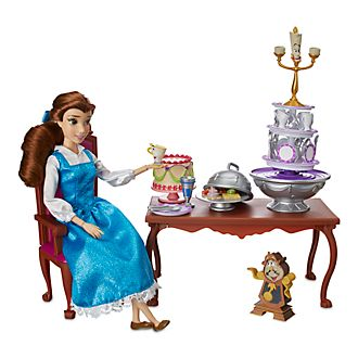 Disney Store Belle Dinner Party Playset, Beauty and the Beast