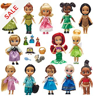 Disney Store - Puppen aus der Disney Animators Collection - 13-teiliges Set