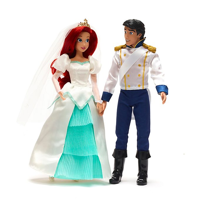 Disney Store Ariel And Eric Wedding Doll Set, The Little Mermaid