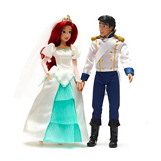 Disney Store Ariel And Eric Wedding Doll Set, The Little Mermaid