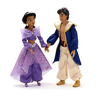 Disney Store Princess Jasmine and Aladdin Singing Doll Set