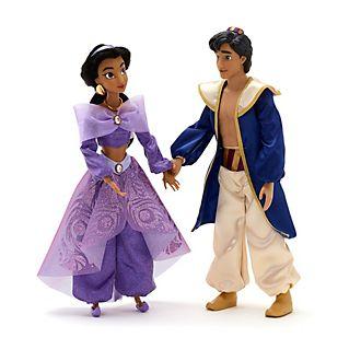 Set de muñecos que cantan, Jasmine y Aladdín, Disney Store