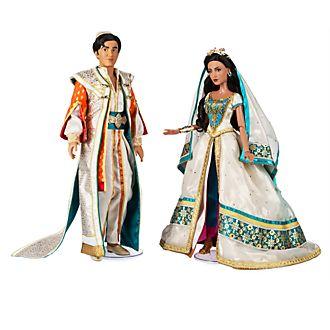 Disney Store Ensemble de poupées Jasmine et Aladdin en édition limitée
